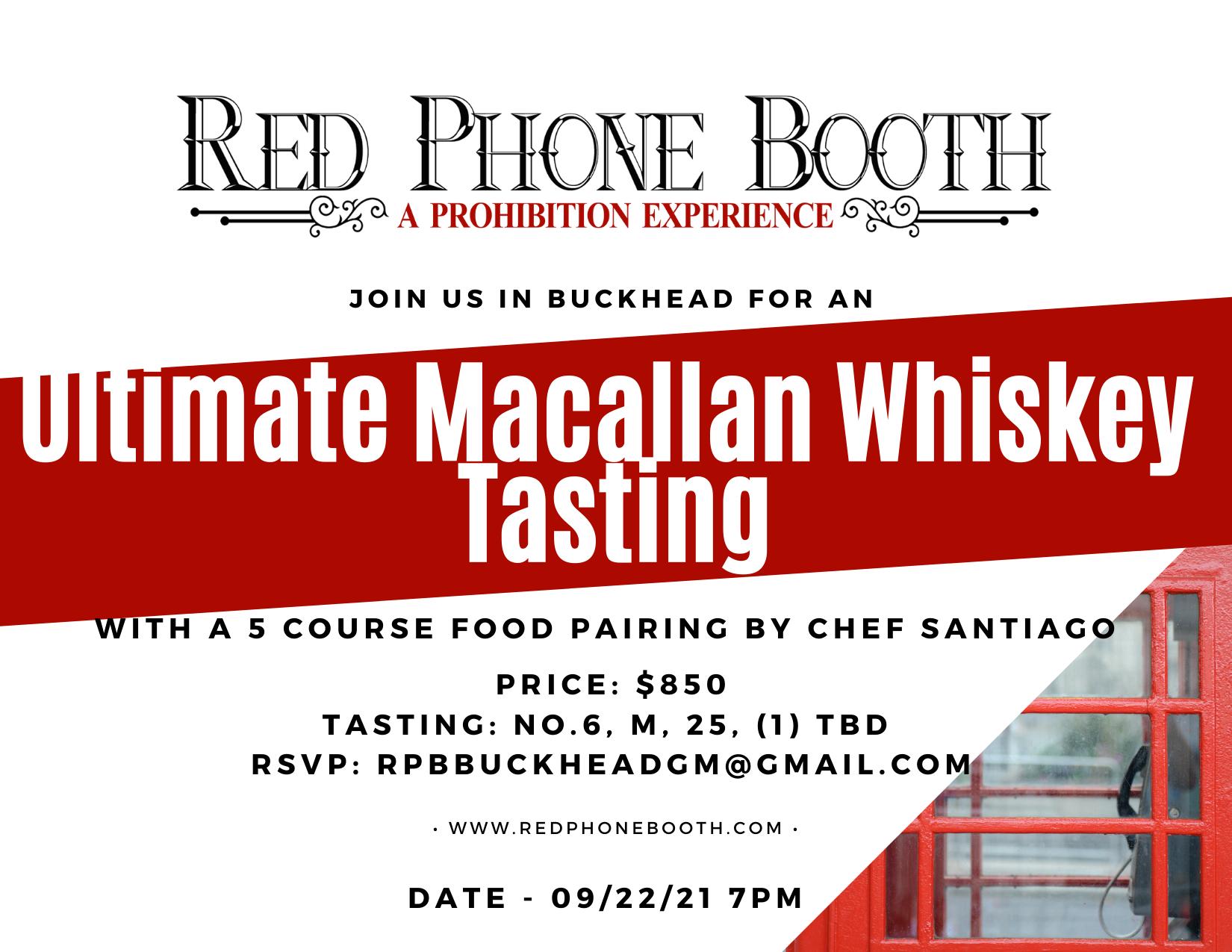 invitation to McCallan Tasting